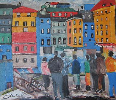 Wathcing Togather Painting by Talal  Ghadban