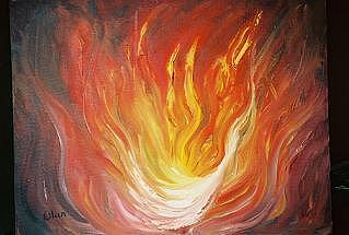 Fire Painting - Wave Of Fire by Eileen Anderson