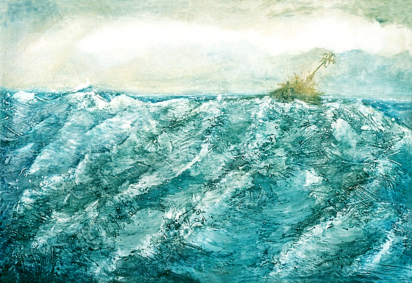 Oil Painting Painting - wave V by Martine Letoile