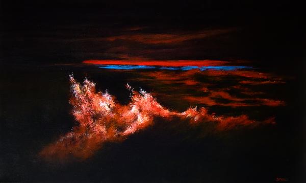Landscape Painting - Waves by DEVARAJ DanielFranco