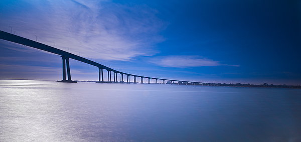 San Diego Photograph - Way Over The Bay II by Ryan Weddle