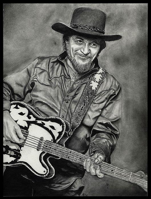 Waylon Jennings Drawing - Waylon Jennings by Alycia Ryan