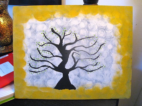 Tree Painting - We Are Nowhere And Its Now by Krysten Jorgensen