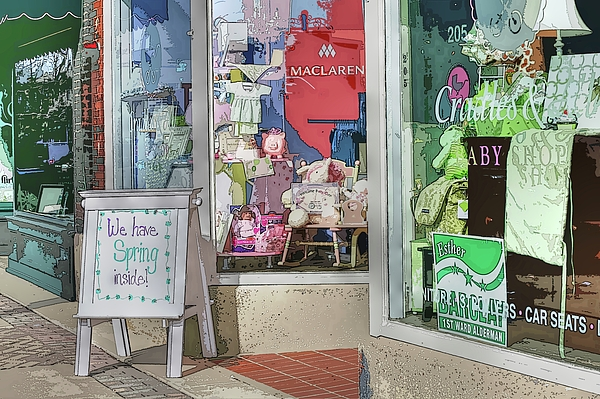 Main Street Photograph - We Have Spring Inside by David Bearden
