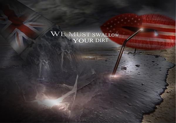Dirt Digital Art - We Must Swallow Your Dirt by Maria Datzreiter