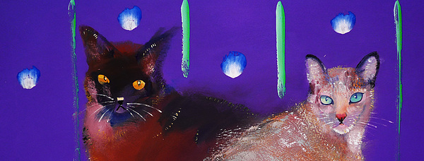 Cat Painting - We Two Cats by Charles Stuart