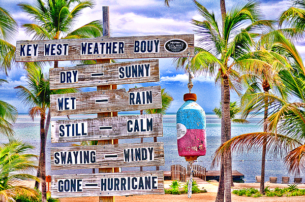 Key West Photograph - Weather Bouy by Steve Cole
