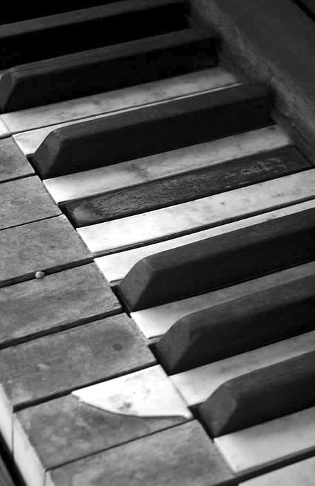 Piano Photograph - Weathered Music by Adam Vance