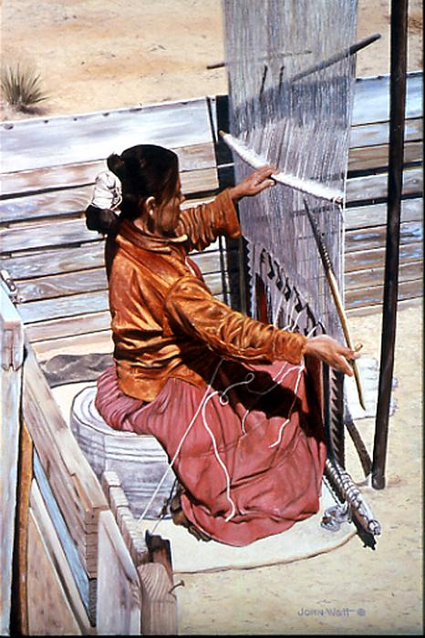 Weavers Tale Painting by John Watt