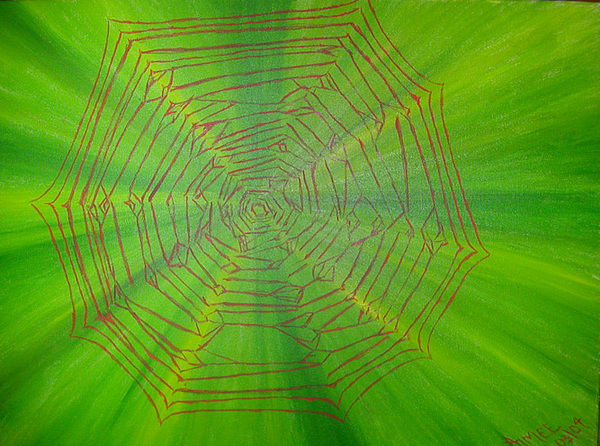Spider Web Painting - web by Aimee Johnson