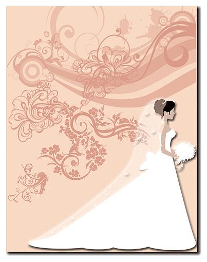 Wedding Digital Art - Wedding Card by Ali AlShawab