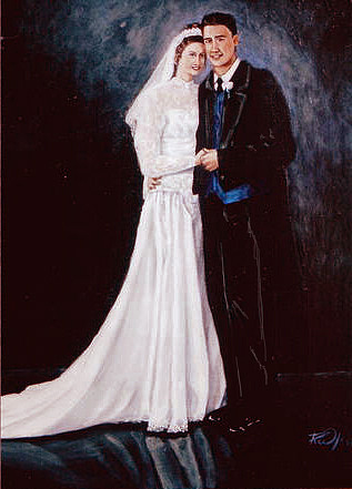 Wedding Painting - Wedding Day by Rusty W Hinshaw