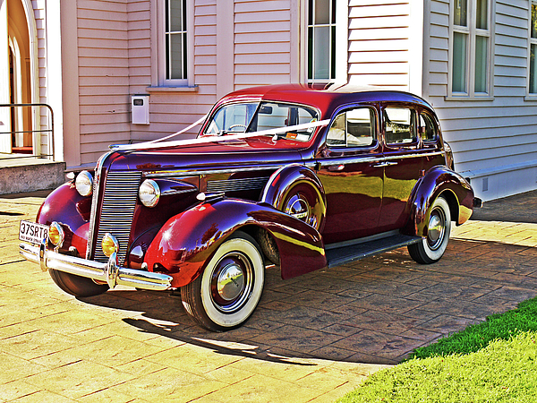 Elegance Photograph - Wedding Limousine by Kenneth William Caleno