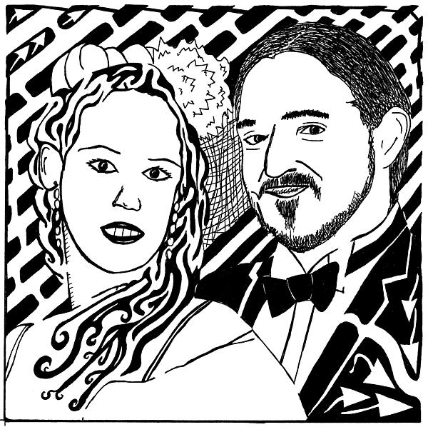 Wedding Drawing - Wedding Maze by Yonatan Frimer Maze Artist