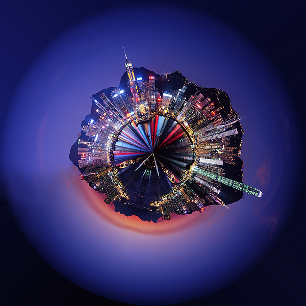 Hong Kong Digital Art - Wee Hong Kong Planet by Nikki Marie Smith