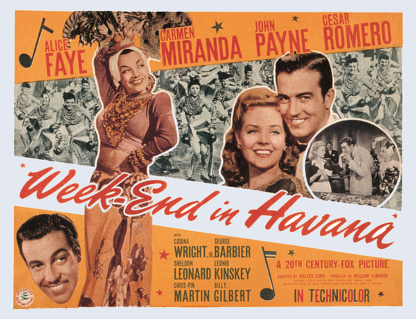 1940s Movies Photograph - Week-end In Havana, Cesar Romero by Everett