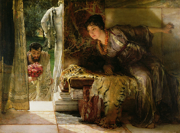 Welcome Painting - Welcome Footsteps by Sir Lawrence Alma-Tadema
