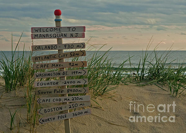 Ocean Photograph - Welcome To Manasquan by Robert Pilkington