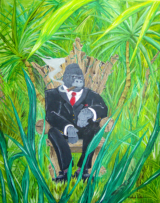 Jungle Painting - Welcome To The Jungle by Joseph Palotas