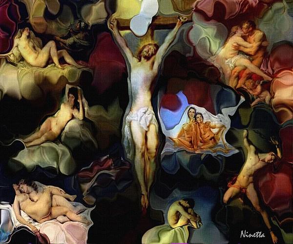 God Digital Art - Were All Gods  Children  by Andrea N Hernandez