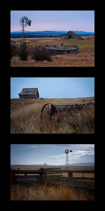 Windmill Photograph - West Plains Trio by Idaho Scenic Images Linda Lantzy