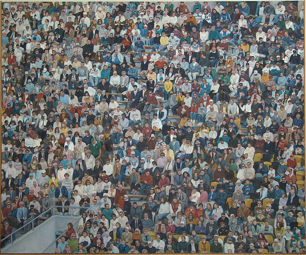 Stadium Crowd Paintings Painting - West Point Crowd by James Sparks