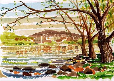 West Point Painting - West Point From Garrison by Ralph Papa