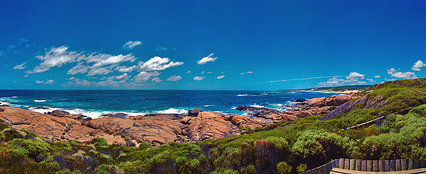 Western Australia Beach Panorama Margaret River Photograph by David Zanzinger
