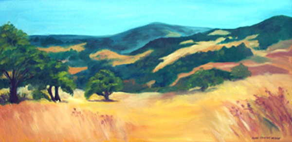 Landscape Painting - Western Hills by Anne Trotter Hodge