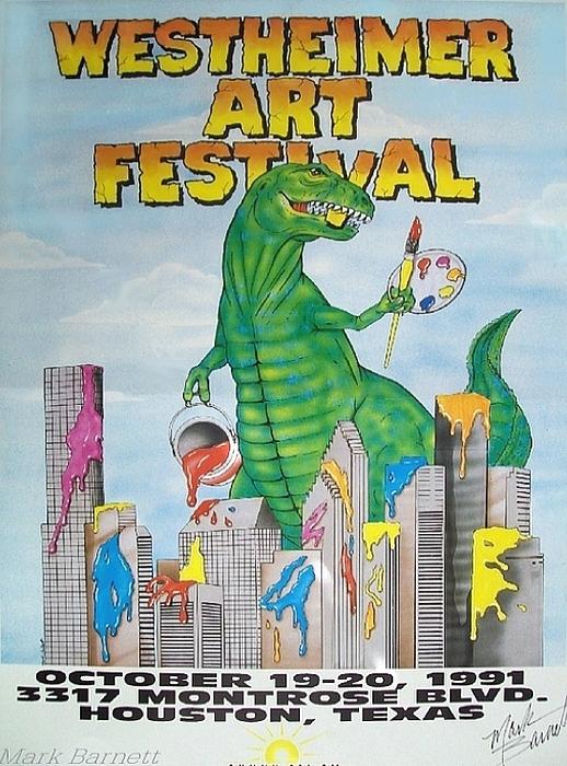 Houston Painting - Westheimer Art Fest 1 by Mark Barnett