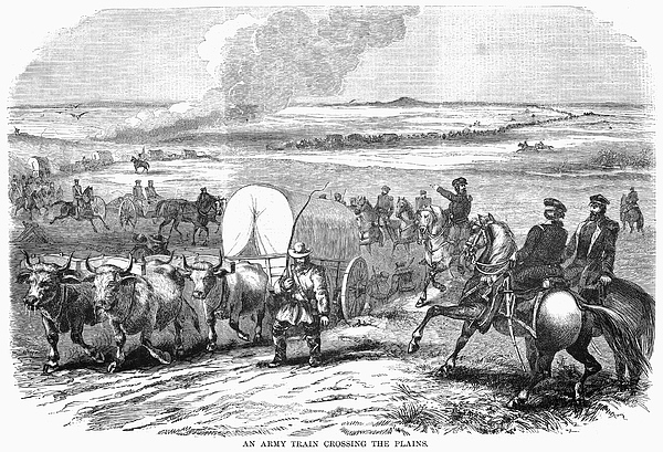 1858 Photograph - Westward Expansion, 1858 by Granger