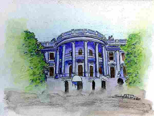 Pen & Ink Painting - W.h. by Saundra Lee York