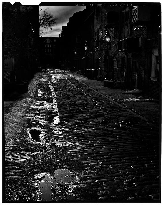 Black And White Photograph - Wharf Street by Filipe N Marques