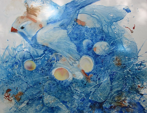 Birds Painting - What Empty Nest by Elizabeth Carr