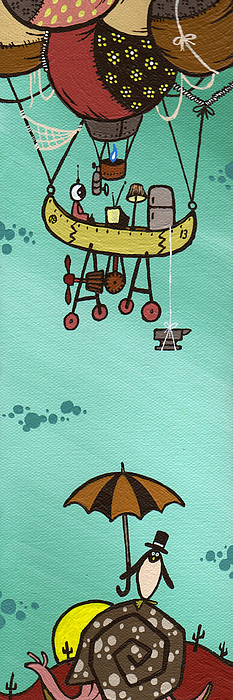 Baloon Painting - What Goes Up.... by Dan Keough