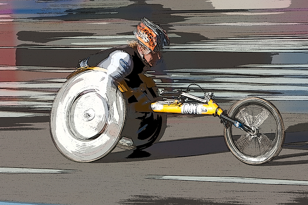 Clarence Holmes Photograph - Wheelchair Racer by Clarence Holmes