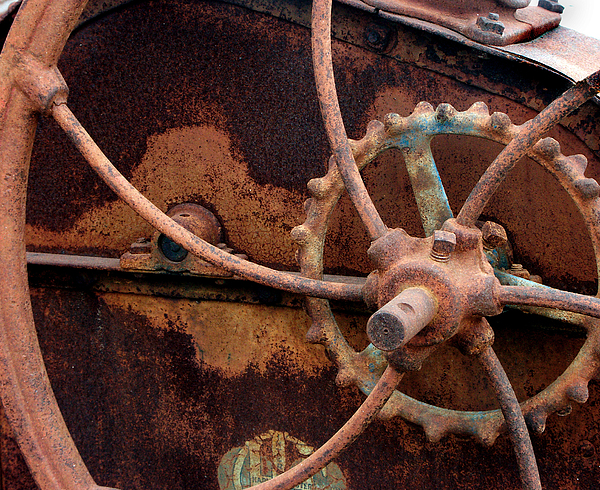 Rust Photograph - Wheels by Shel Perkins