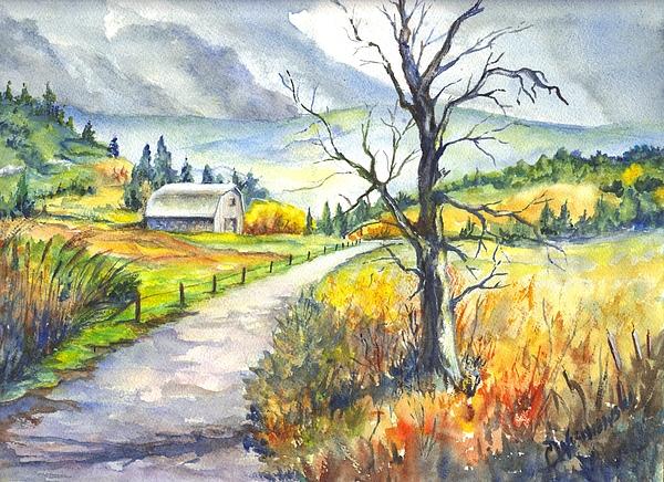 Farm Painting - When I Was Young by Carol Wisniewski