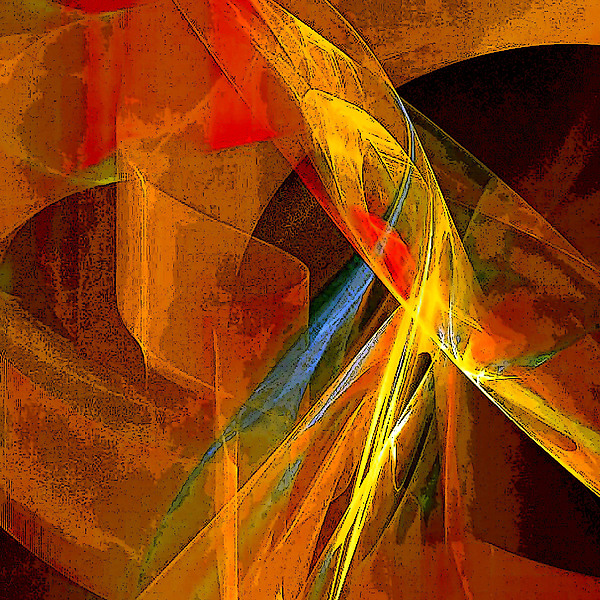 Abstract Digital Art - When Paths Cross by Ruth Palmer