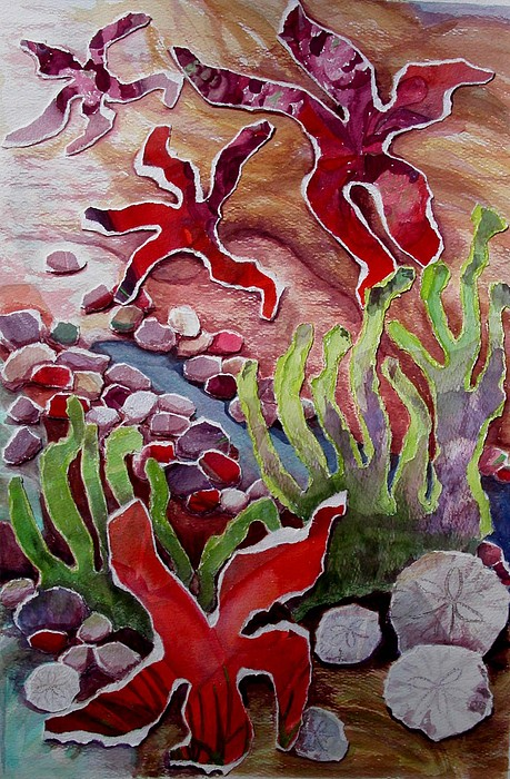 Landscape Painting - When Starfish Dance by Joanne Osband