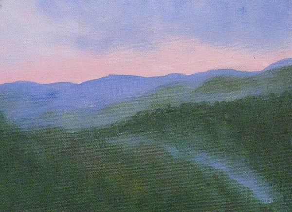 Landscape Painting - Where Mists Nestle by Trilby Cole