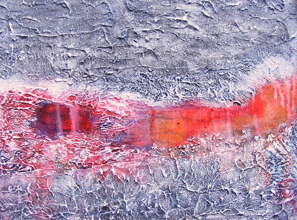 Abstract Painting - Where The Asphalt Ends by Jean LeBaron
