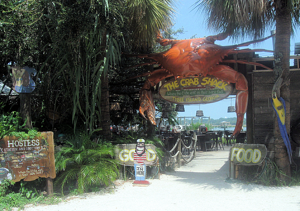 Crab Shack Photograph - Where The Elite Eat In Their Bare Feet by Juliana  Blessington