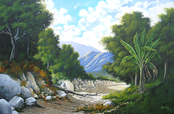 Landscape Painting - Where Was Once River by Antonio Gomes Comonian