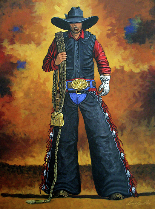 Rodeo Painting - Wheres My Ride by Lance Headlee
