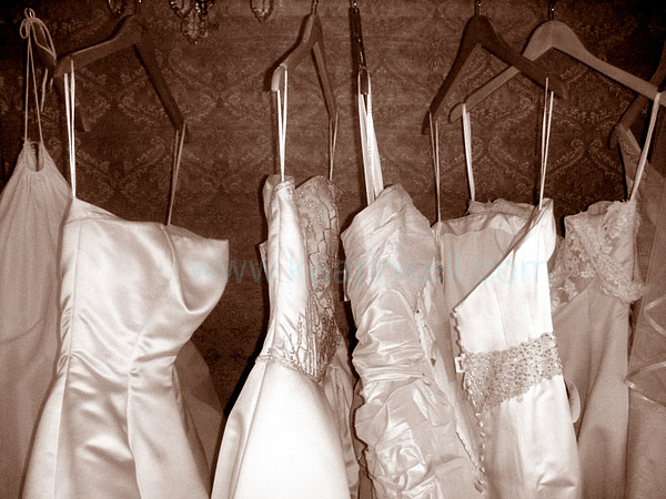Wedding Photograph - Which Dress Will It Be by Kaarin  Keil