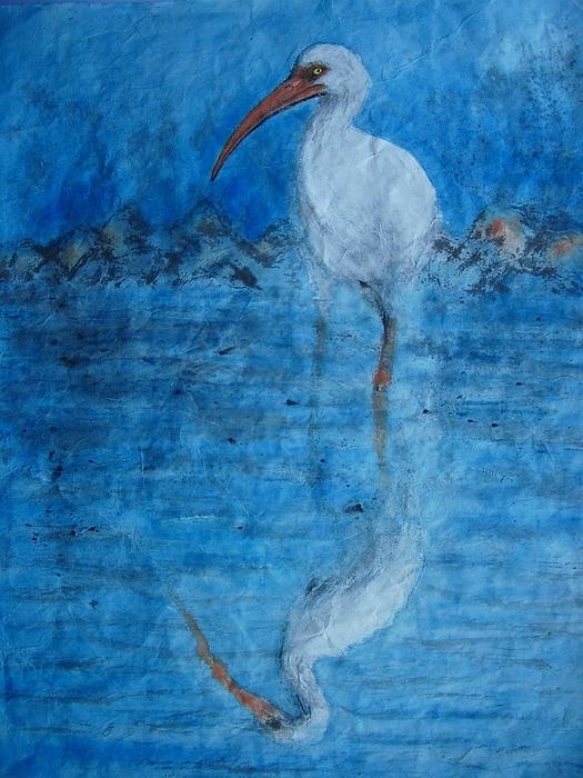 Nature Painting - Whimbrel by Jian Hua Li