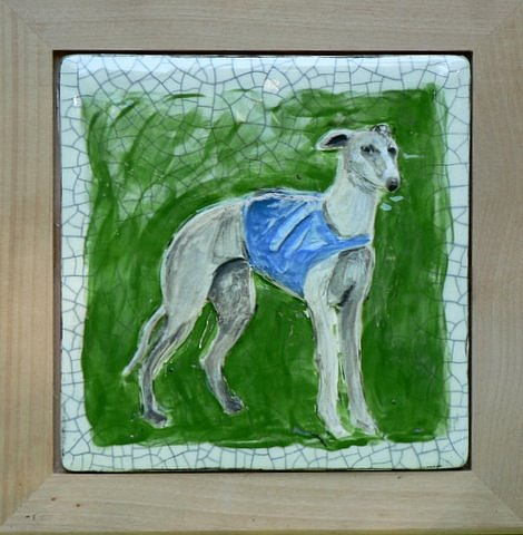 Dogs Painting - Whippet In Relief by Phillip Dimor