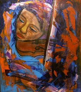 Whisper Violin  Painting by Niki Sands