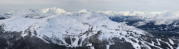 Whistler Photograph - Whistler Mountain Panorama by Pierre Leclerc Photography